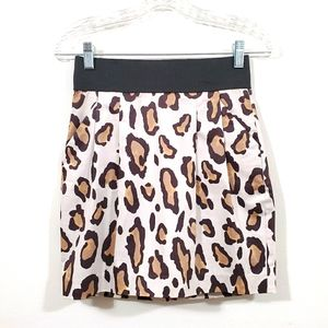 Armani Exchange Skirt Animal Print Leopard Size 0